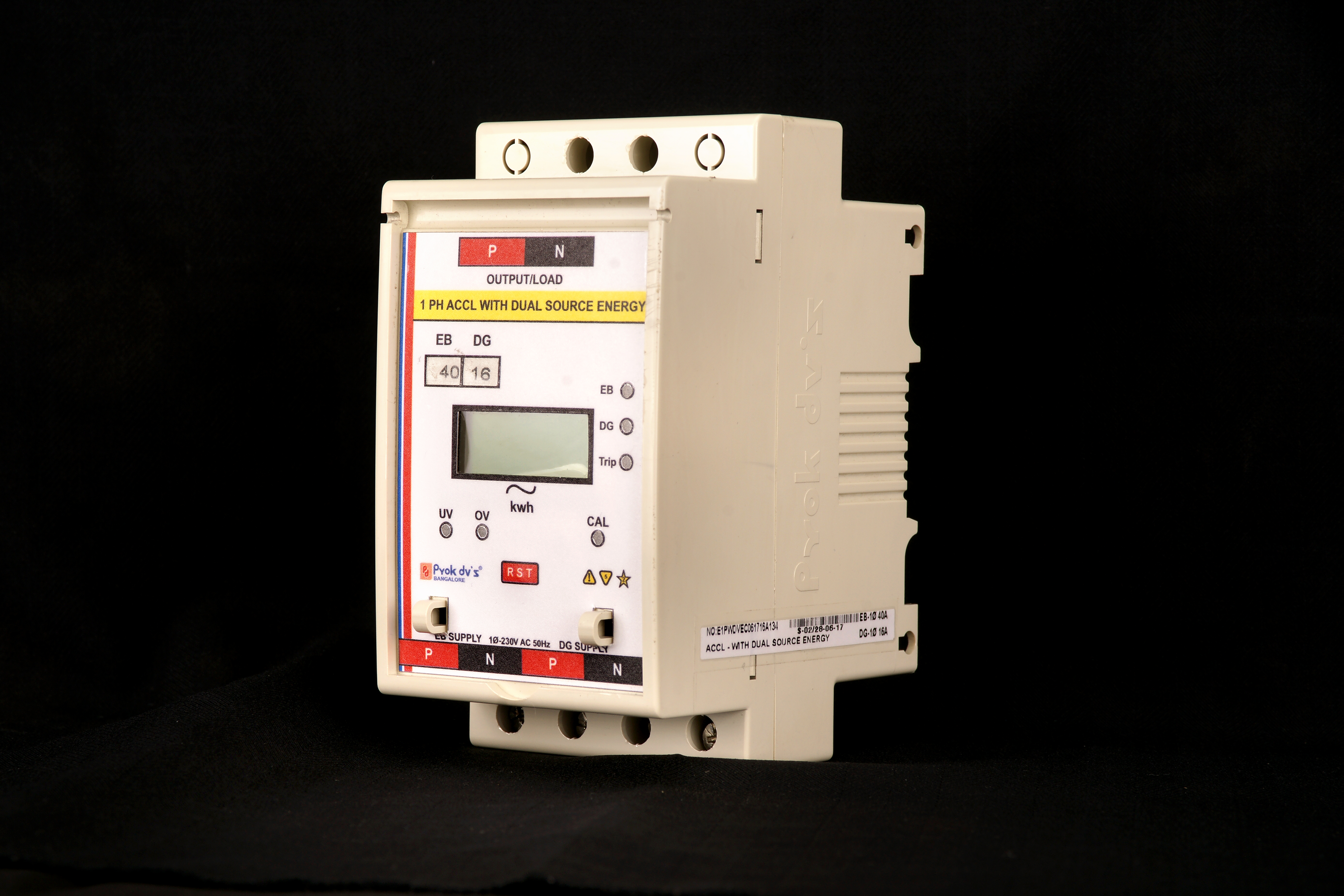 Prok Current Based Relay Control Auto Source Changeover Cum Limiter