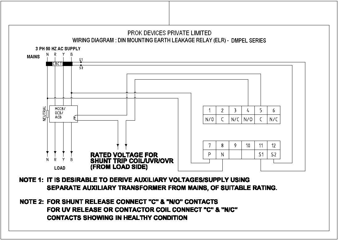 Prok Electrical Relay Pin Numbers Catalogue User Manual Connection Diagram